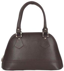 Aliado Faux Leather Solid Black Zipper Closure Stylish Tote  Bag