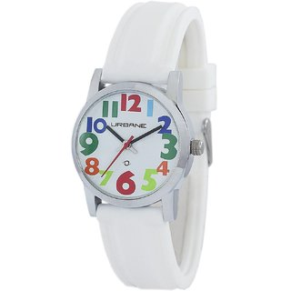 Urbane by Maxima Analog White Dial Womens Watch -U-01458PALC