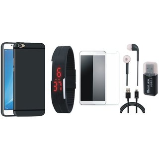 K6 Note Stylish Back Cover with Memory Card Reader, Free Digital LED Watch, Tempered Glass, Earphones and USB Cable