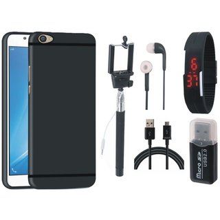 Lenovo K8 Soft Silicon Slim Fit Back Cover with Memory Card Reader, Selfie Stick, Digtal Watch, Earphones and USB Cable