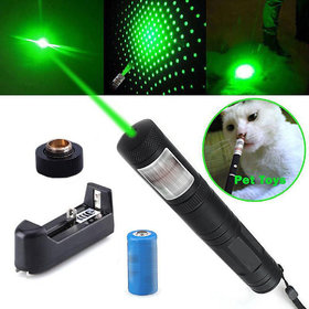 Rechargeable 500 mw Green Laser Pointer Pen Bright 5 Mile + Battery + Charger
