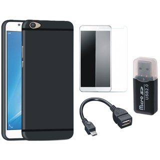 K6 Note Back Cover with Memory Card Reader, Tempered Glass and OTG Cable