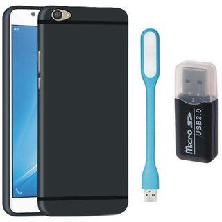 Lenovo K8 Silicon Slim Fit Back Cover with Memory Card Reader, USB LED Light