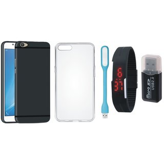 K6 Note Back Cover with Memory Card Reader, Silicon Back Cover, Digital Watch and USB LED Light