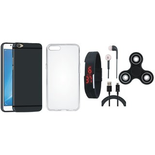 Lenovo K8 Note Stylish Back Cover with Spinner, Silicon Back Cover, Digital Watch, Earphones and USB Cable