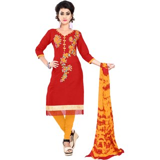 Florence Multicolor Cotton Semi stitched Dress Material