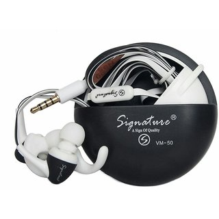 Signature VM-50 Sports Earphones with Stylish Cary Case (Assorted Colors)