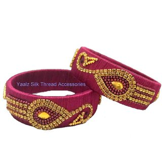 Handamade Silk Thread Bangle For Women