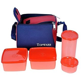 Topware 4 Container Lunch Box with insulated bag microwave safe