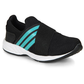 Smartwood slipon  black running sport shoes for men