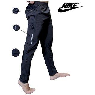 Nike Navy Polyester Lycra Track Unisex Pant