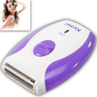 Epilator for Women - Shaver and Trimmer in One - Full Body Beauty Styler - Kemei KM 280R (Purple and White)