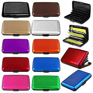 Aluminum Wallet Purse Credit Card ATM Money Holder Organizer For Men Women (Multicolor) Color As Per Avialable