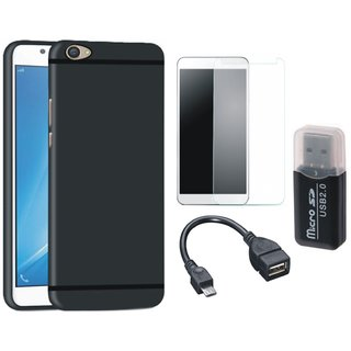 Samsung C9 Pro Premium Quality Cover with Memory Card Reader, Tempered Glass and OTG Cable