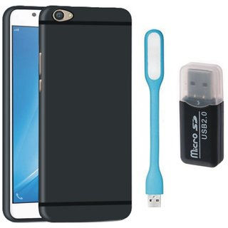 Samsung C9 Pro Back Cover with Memory Card Reader, USB LED Light