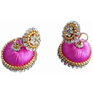 Handmade Silk Thread Earring Jhumka For Women