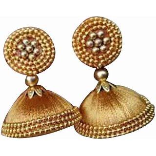 Handmade Silk Thread Earring Jhumka For Women