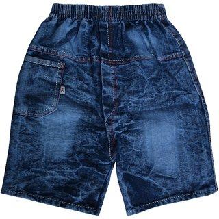 SHAURYA Short For Boys Cotton Linen Blend, Cotton Nylon Blend, Cotton Linen Blend (Blue Patch, Pack of 1)