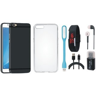 Moto G5 Back Cover with Memory Card Reader, Silicon Back Cover, Digital Watch, Earphones, USB LED Light and USB Cable