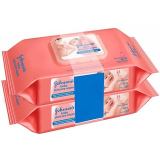 Johnsons Baby Skincare Wipes 280 cloth wipes (Pack of 2)