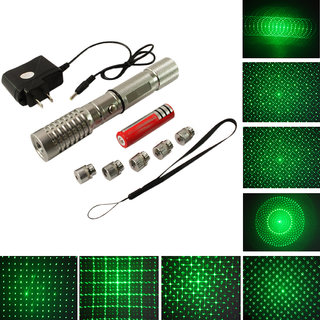 1000 mw Rechargeable Green Laser Pointer Pen 5 Mile + Battery + Charger