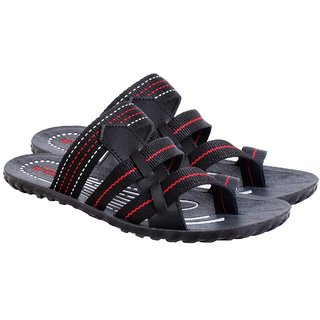 b1846930b2f Buy Zamper Black Slippers-Sandals and Floaters For Mens-200-300-400 ...