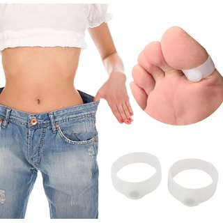 Acupressure Weight Loss Japanese Magnetic Slimming Toe Ring ,Fat Weight Loss Health silicon ring  (1 Pair)