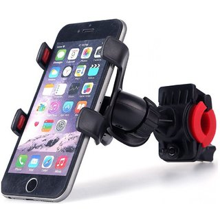 Universal 360 Degree Rotating Black Mobile Phone Mount Stand For Bikes