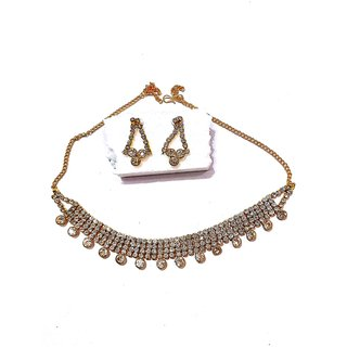 neckless set for womenecklace for ginrls fashion party wear arafa jewellery Gold Plated Traditional/Ethnic