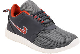 Smartwood Laceup Gray Red Running Sport Shoes For Men