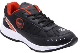 Smartwood Laceup  Black Red Running Sport Shoes For Men