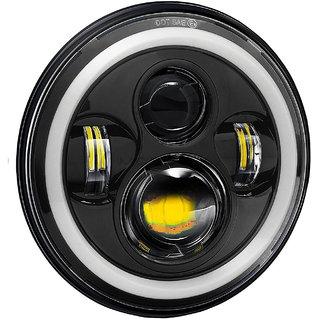 LIONEX 7 Inch Full Ring LED Headlight for Bullet Classic 350