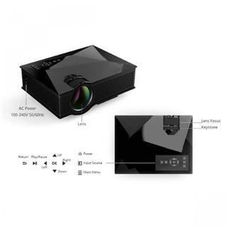 UNIC 1200 Lumens Mini Led Projector HD 1080p with Wifi 2.4G Wireless Screen