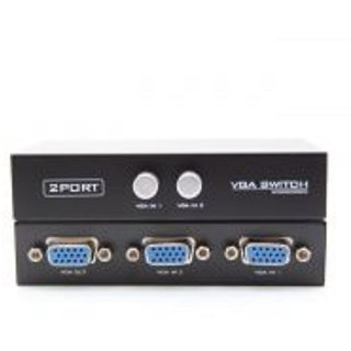 2 Port VGA Manual Monitor Switch Switcher