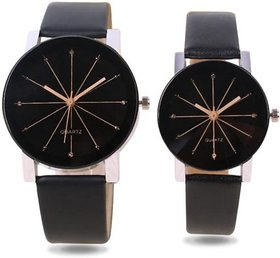 Crystal Glass Couple Watch For Men  Women