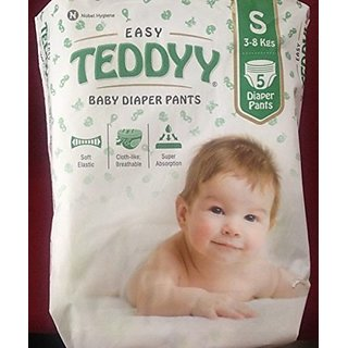 Super Teddyy Baby diapers Pant S 3-8KG 5Nos (Set of 3)