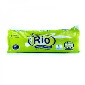 RIO SANITARY NAPKINS SOFT XL 280 MM ( 7PC - PACK OF 4 )