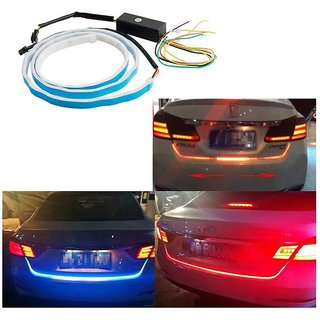 Autosky LED Ice Blue Red DRL Parking Indication Dicky Trunk Boot Strip Light