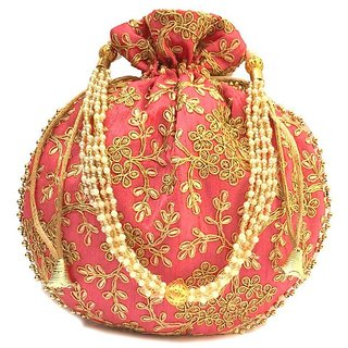 Geetanjali Decor Women's potli bag with thread work