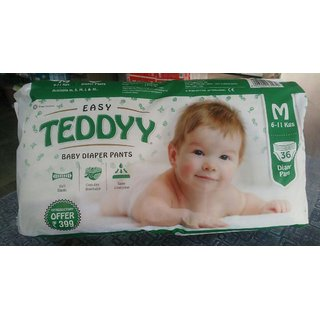 EASY TEDDY BABY DIAPER SIZE MEDIUM PACK OF 36