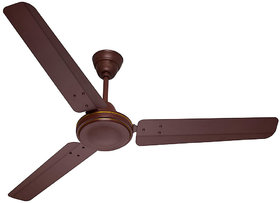 HomeKrafts Hi Breeze 48 (1200mm) 3 Aluminium Blades, Aluminium Body, Copper Winded Motor, Energy Saving Ceiling Fan - Matt Brown