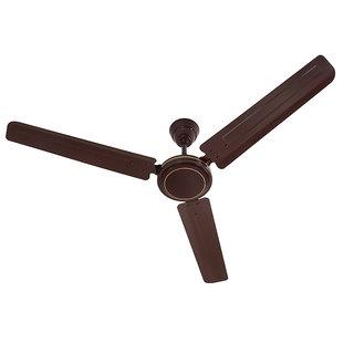 HomeKrafts Dimple 48 (1200mm) 3 Blades Energy Saving Ceiling Fan - Glossy Brown