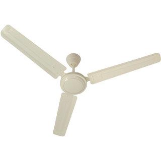 HomeKrafts Dimple 48 (1200mm) 3 Blades Energy Saving Ceiling Fan - Ivory