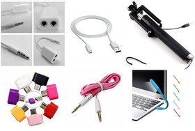 SCG Combo of 6 Top selling Mobile Accessories