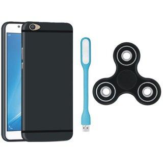 Samsung J7 Prime SM-G610F Plus Premium Back Cover with Spinner, USB LED Light