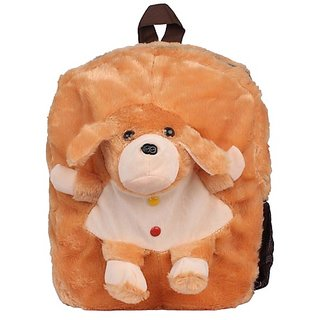 Envie Faux Fur Brown  Coloured Zipper Closure Backpack