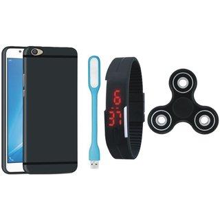 Motorola Moto G5 Plus Stylish Back Cover with Spinner, Digital Watch and USB LED Light