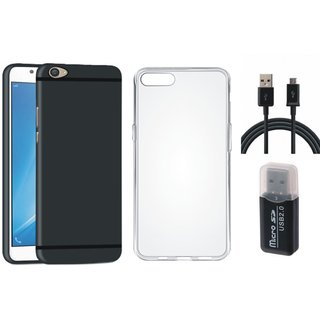 Vivo V5 Silicon Slim Fit Back Cover with Memory Card Reader, Silicon Back Cover, USB Cable