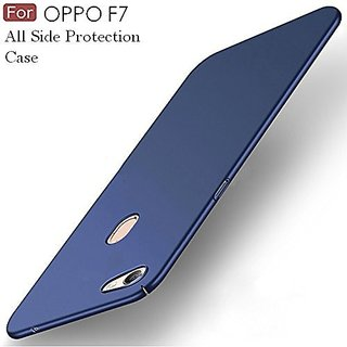 SK   4Cut Matte Finish Hard Back Full Protection Case Cover For Oppo F7 - Blue