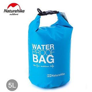 NatureHike 5L Camping Bags High Strength Waterproof Ultralight Bag Blue